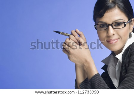 Portrait of a businesswoman - stock photo