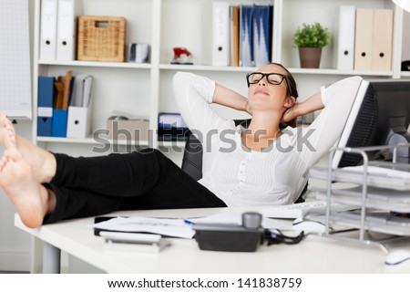 Portrait of a businesswoman during the siesta