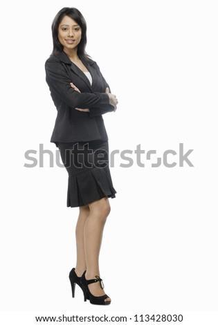 Portrait of a businesswoman posing - stock photo