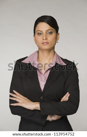 Portrait of a businesswoman with arms crossed