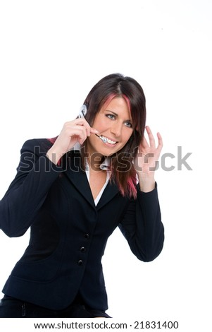 portrait of a call center girl
