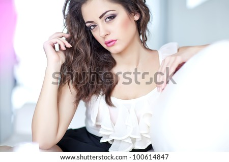 Portrait of a calm young woman