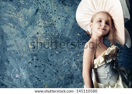 portrait of a charming little...