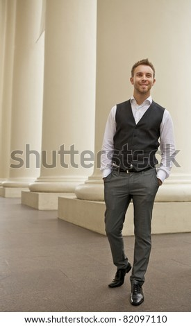 Portrait of a cheerful young businessman #82097110
