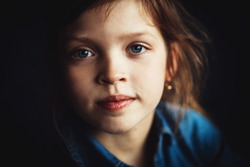 portrait of a child close-up
