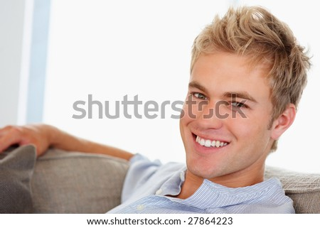 stock photo : Portrait of a confident smart male smiling confidently