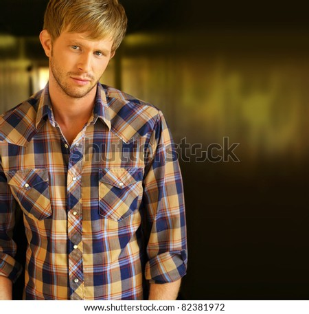 Portrait of a confident young man with lots of copy space