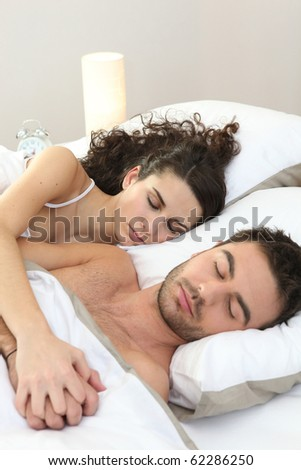 Portrait of a couple sleeping