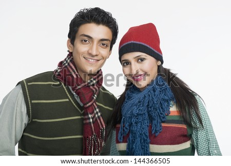 Portrait of a couple smiling Photo stock ©