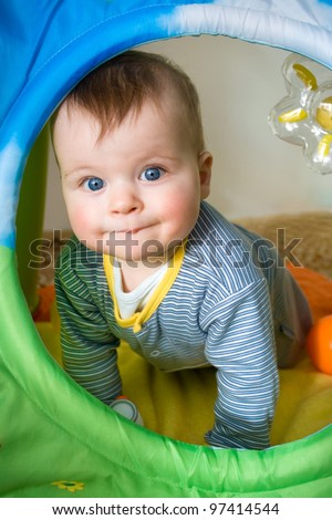 Portrait of a cute baby boy