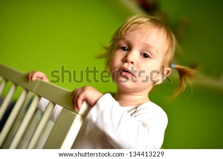 Portrait Of A Cute Baby, Indoors