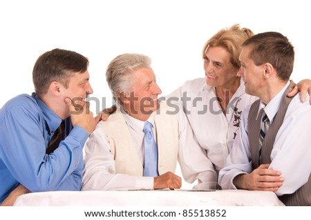 portrait of a cute people at table