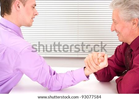 portrait of a cute two business men