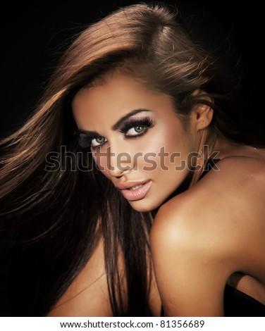 Portrait of a cute woman