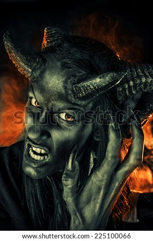 portrait of a devil with horns fantasy art project 225100066