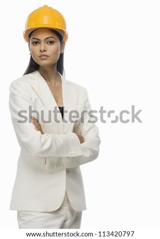 Portrait of a female architect with her arms crossed