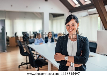 Portrait of a female business leader. #1116615497