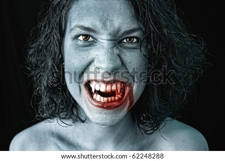 portrait of a female vampire