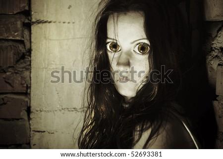 Portrait of a female zombie.