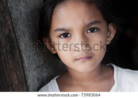 stock photo Portrait of a Filipina young girl from the Philippines