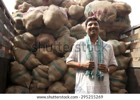 portrait of a food merchant