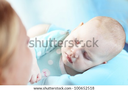 Portrait of a four months old baby