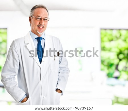 Portrait of a friendly scientist smiling