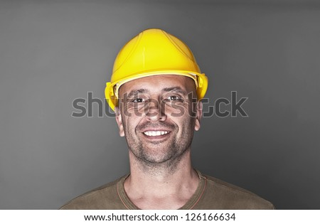 Portrait of a friendly worker