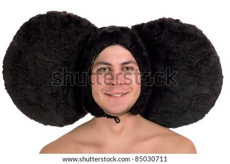 Portrait of a funny guy with big ears (Cheburashka)