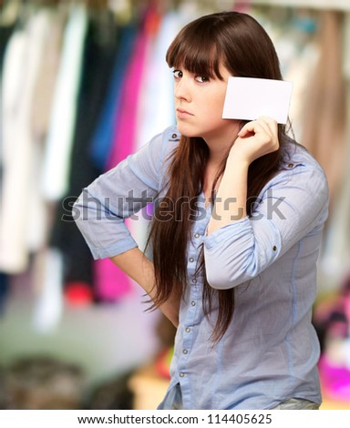 Portrait Of A Girl Holding Paper And Sad, Indoor