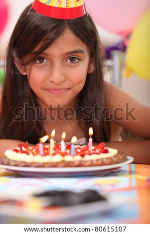 Portrait of a girl on her birthday