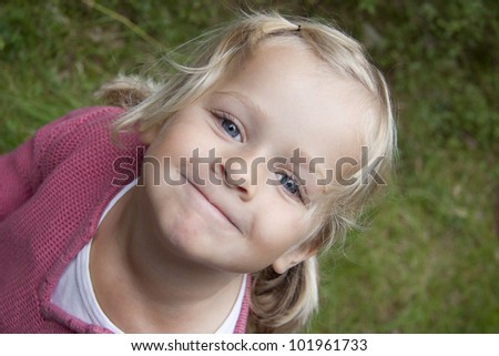 Portrait of a girl smiling at the camera