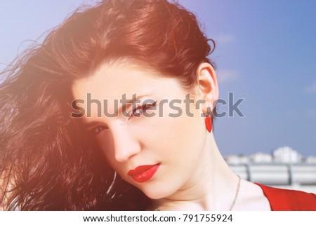 portrait of a glamorous pretty...