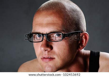 Portrait of a guy with glasses