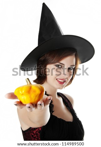 portrait of a halloween witch