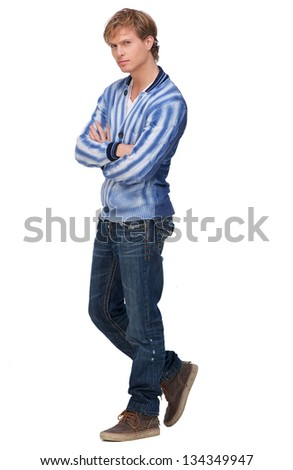 Portrait of a handsome man with arms crossed