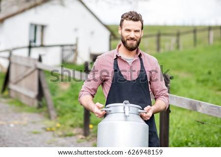portrait of a handsome milkman...