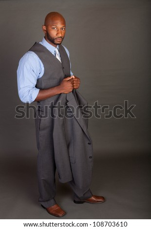 Portrait of a handsome young African American business man