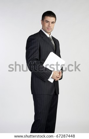 Portrait of a handsome young business man