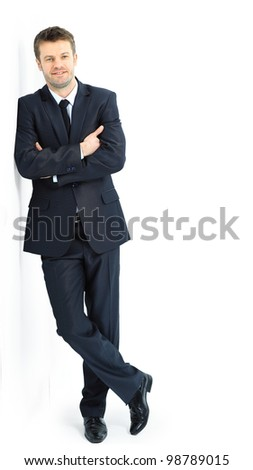 Portrait of a handsome young man in a business suit