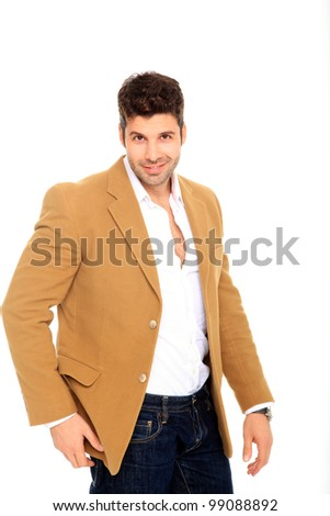 portrait of a handsome young man with suit