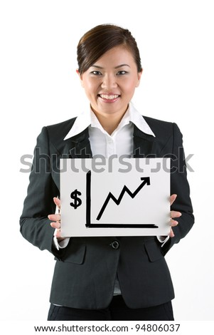 Portrait of a happy business woman standing with folded arms.