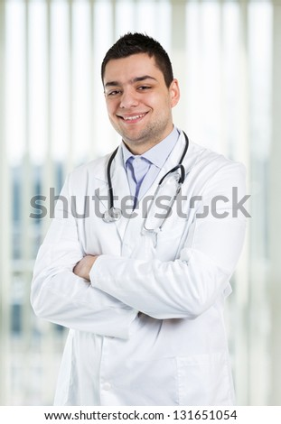 Portrait of a happy doctor