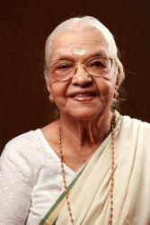 Portrait of a happy Indian senior woman