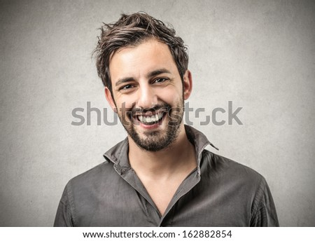 portrait of a happy man