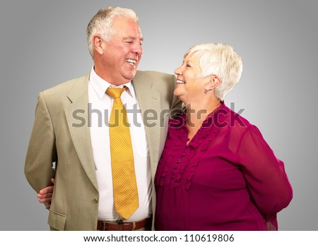 Portrait Of A Happy Senior Couple, Indoor