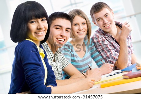 Portrait of a happy students