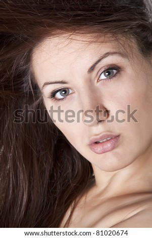 Portrait of a hot young woman looking confidently