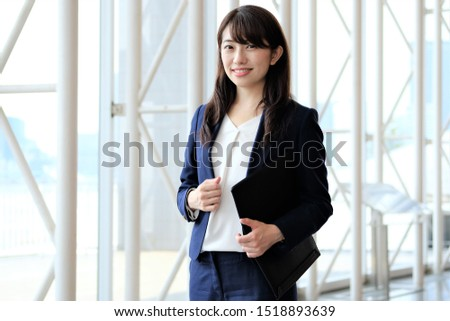 Portrait of a Japanese person in a suit Foto stock ©