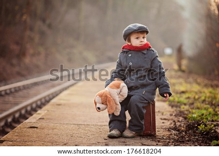 portrait of a little boy with s ...